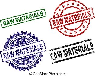 Scratched Textured RAW MATERIALS Stamp Seals - RAW MATERIALS...