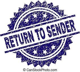 Scratched Textured RETURN TO SENDER Stamp Seal - RETURN TO...