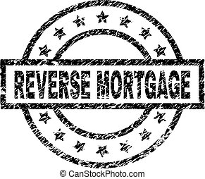 Scratched Textured REVERSE MORTGAGE Stamp Seal