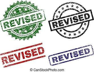 Scratched Textured REVISED Stamp Seals - REVISED seal prints...