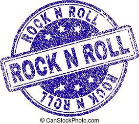 Scratched Textured ROCK N ROLL Stamp Seal
