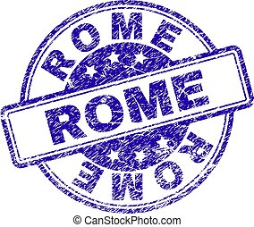 Scratched Textured ROME Stamp Seal