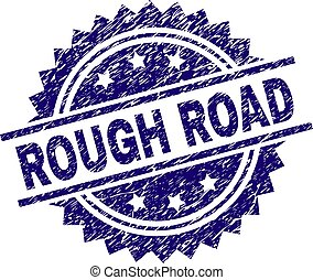 Scratched Textured ROUGH ROAD Stamp Seal - ROUGH ROAD stamp...