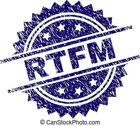 Scratched Textured RTFM Stamp Seal