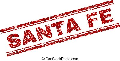 Scratched Textured SANTA FE Stamp Seal