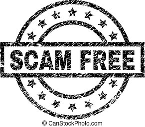Scratched Textured SCAM FREE Stamp Seal