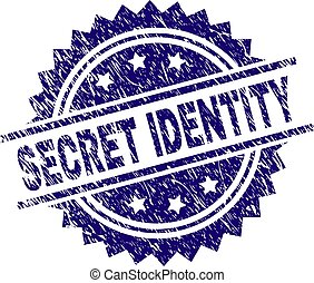 Scratched Textured SECRET IDENTITY Stamp Seal