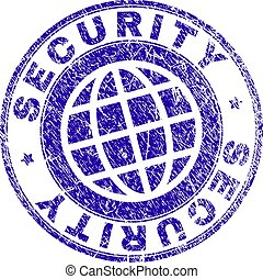 Scratched Textured SECURITY Stamp Seal