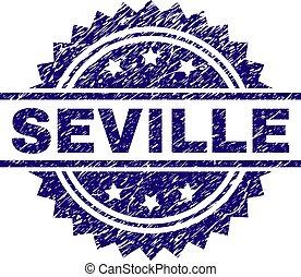 Scratched Textured SEVILLE Stamp Seal