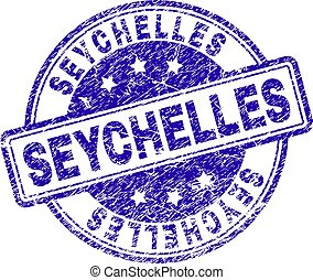 Scratched Textured SEYCHELLES Stamp Seal