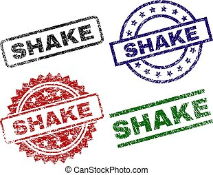 Scratched Textured SHAKE Seal Stamps