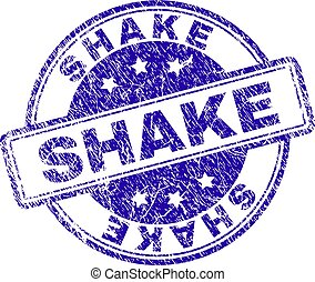 Scratched Textured SHAKE Stamp Seal