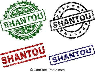 Scratched Textured SHANTOU Stamp Seals