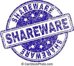Scratched Textured SHAREWARE Stamp Seal - SHAREWARE stamp ...