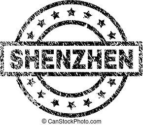 Scratched Textured SHENZHEN Stamp Seal