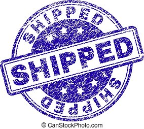 Scratched Textured SHIPPED Stamp Seal