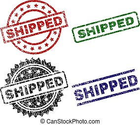 Scratched Textured SHIPPED Stamp Seals