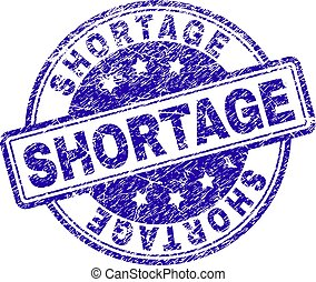 Scratched Textured SHORTAGE Stamp Seal