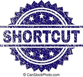 Scratched Textured SHORTCUT Stamp Seal