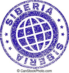 Scratched Textured SIBERIA Stamp Seal - SIBERIA stamp...