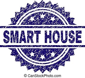 Scratched Textured SMART HOUSE Stamp Seal