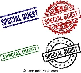 Scratched Textured SPECIAL GUEST Stamp Seals