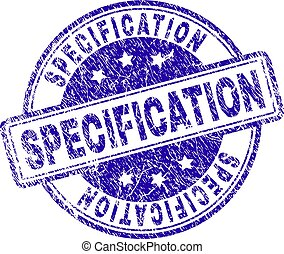 Scratched Textured SPECIFICATION Stamp Seal - SPECIFICATION...
