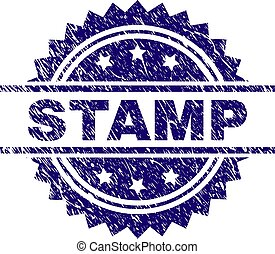 Scratched Textured STAMP Seal