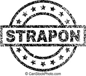 Scratched Textured STRAPON Stamp Seal - STRAPON stamp seal...