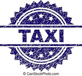 Scratched Textured TAXI Stamp Seal