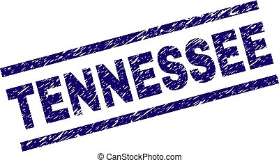 Scratched Textured TENNESSEE Stamp Seal