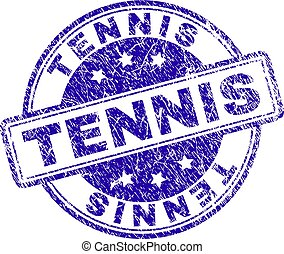 Scratched Textured TENNIS Stamp Seal