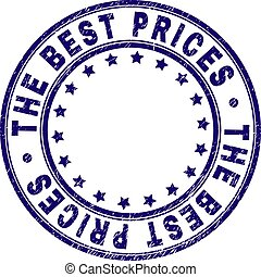 Scratched Textured THE BEST PRICES Round Stamp Seal