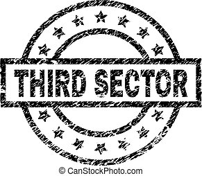 Scratched Textured THIRD SECTOR Stamp Seal - THIRD SECTOR ...