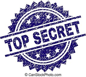 Scratched Textured TOP SECRET Stamp Seal