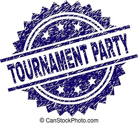 Scratched Textured TOURNAMENT PARTY Stamp Seal