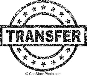 Scratched Textured TRANSFER Stamp Seal - TRANSFER stamp seal...