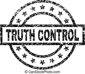 Scratched Textured TRUTH CONTROL Stamp Seal