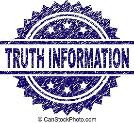 Scratched Textured TRUTH INFORMATION Stamp Seal - TRUTH...