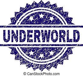 Scratched Textured UNDERWORLD Stamp Seal - UNDERWORLD stamp...