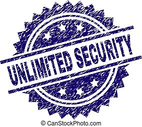 Scratched Textured UNLIMITED SECURITY Stamp Seal