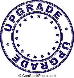 Scratched Textured UPGRADE Round Stamp Seal