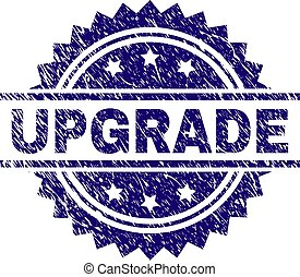 Scratched Textured UPGRADE Stamp Seal