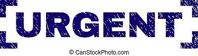 Scratched Textured URGENT Stamp Seal Inside Corners - URGENT...