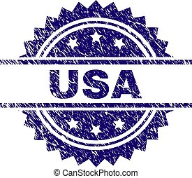 Scratched Textured USA Stamp Seal