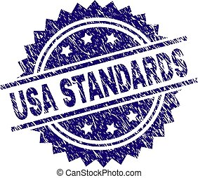 Scratched Textured USA STANDARDS Stamp Seal