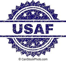Scratched Textured USAF Stamp Seal - USAF stamp seal...
