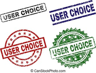 Scratched Textured USER CHOICE Stamp Seals