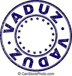 Scratched Textured VADUZ Round Stamp Seal