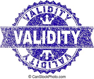 Scratched Textured VALIDITY Stamp Seal with Ribbon